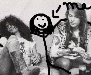 axl rose, Guns N Roses, and slash image