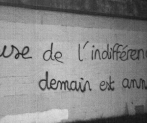 french, wall, and indifference image