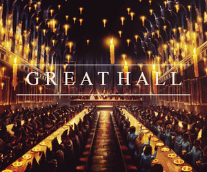 hogwarts, harry potter, and great hall image