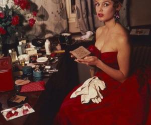 brigitte bardot, red, and vintage image