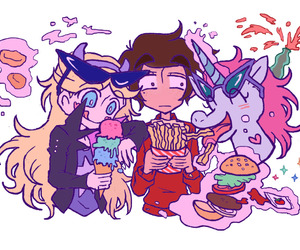 marco diaz, pony head, and star butterfly image