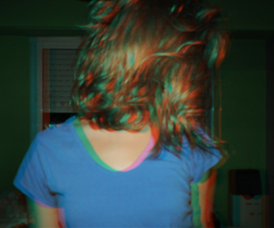 cellophane, girl, and grunge image