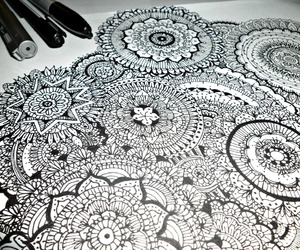 art, mandala, and zentangle image