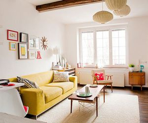 interior design, living room, and gallery wall image