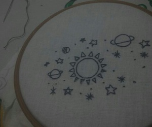 bordado, embroidered, and embroidery image