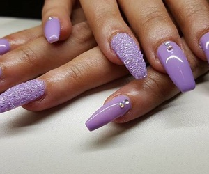 blingbling, nail, and nails image