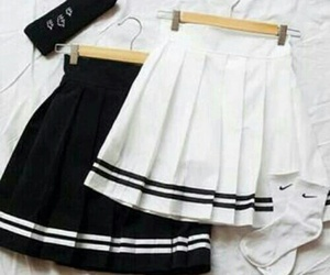 skirt, black, and white image