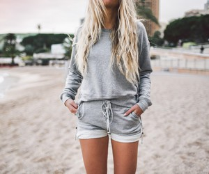 fashion, outfit, and beach image