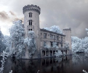 castle, winter, and white image
