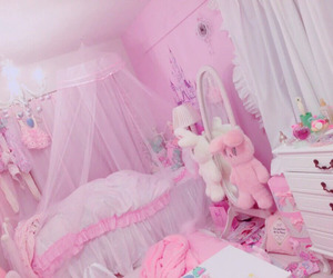 room, decoration, and pink image