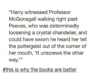books, harry potter, and professor mcgonagall image