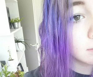 colored hair, violet hair, and dyed hair image