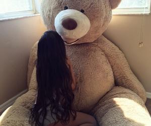 bear, couple, and girl image