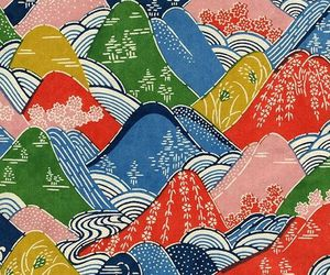 colourful, japanese, and pattern image