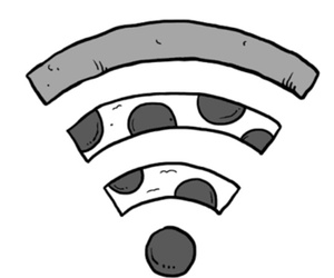 pizza and wifi image