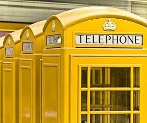 yellow, telephone, and aesthetic image