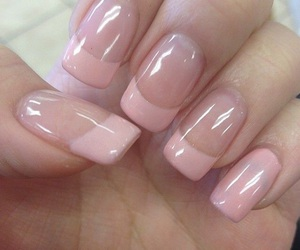 nail art, nail polish, and french manicure image