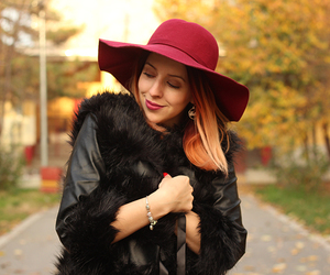 burgundy, fluffy, and fur image