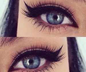 eyes, makeup, and blue image