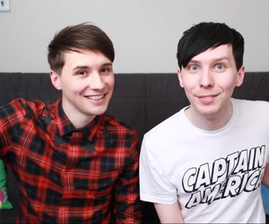 dan and phil, danisnotonfire, and dan howell image