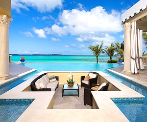 pool, luxury, and house image