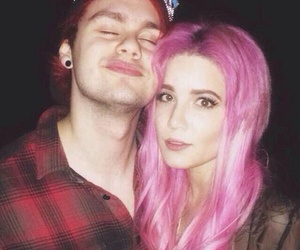 5sos, michael clifford, and halsey image