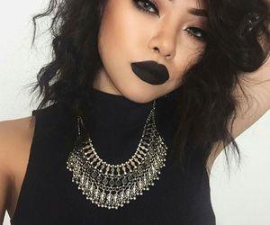 makeup, black, and hair image