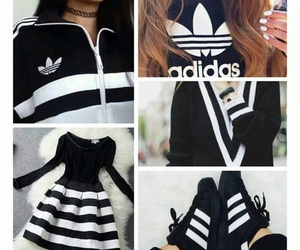 black, white, and dress image