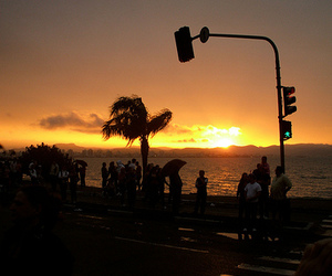 sunset and florianopolis image