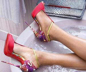 bath, fashion, and heel image