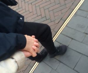 alternative, couple, and hands image