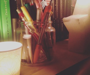 books, harry potter, and pens image
