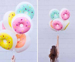 donuts, balloons, and summer image