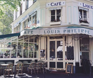 coffeehouse, paris, and travel image