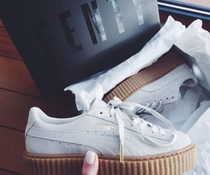 puma, shoes, and white image