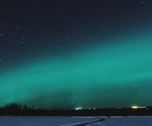 background, night, and northern lights image