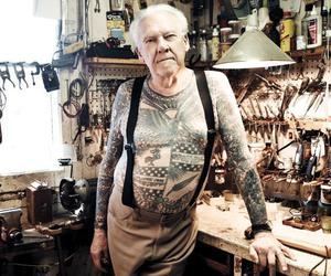 old school, tattoo, and nice shirt image