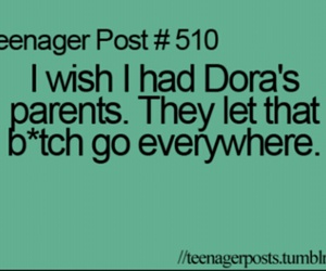 quote, Dora, and funny image