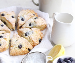 blueberry, food, and scones image