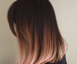 hair, ombre, and pink image