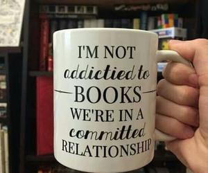 book, mug, and Relationship image