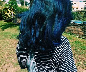 blue hair, hair, and jumpsuit image