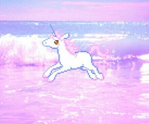 unicorn, pink, and pastel image