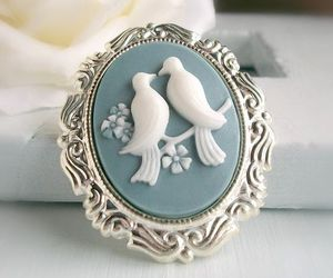 cameo, lovely, and vintage image