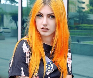 cabelo, orange, and love image