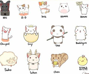 animals, exo, and sm entetainment image