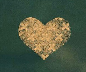 gold, green, and heart image