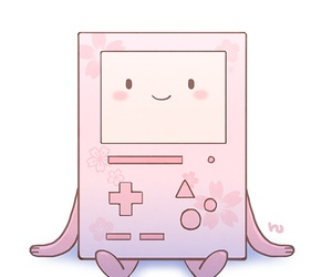 pink, bmo, and adventure time image