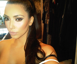 kim kardashian and hair image