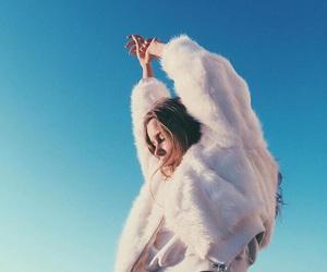 fashion, girl, and sky image